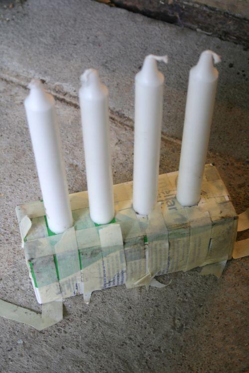 DIY castiçal porta velas concreto cimento