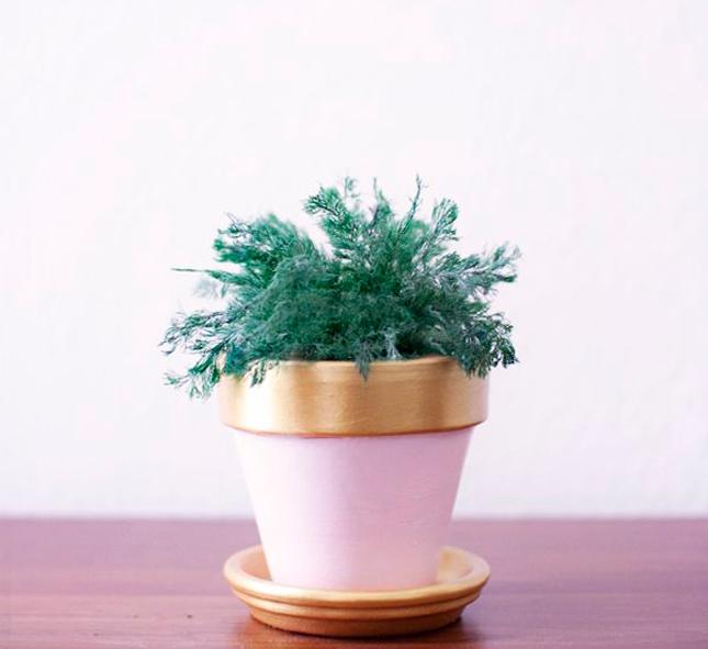 DIY decoração vasos de barro glitter purpurina brilhante