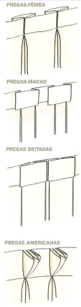 tipos de pregas cortinas 3