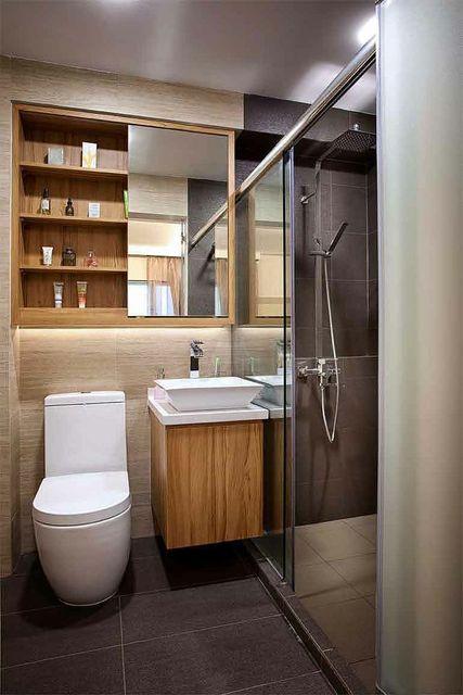 decoração banheiro pequeno (24)  Studio 1202  Blog de decoração -> Decoracao Banheiro Visita