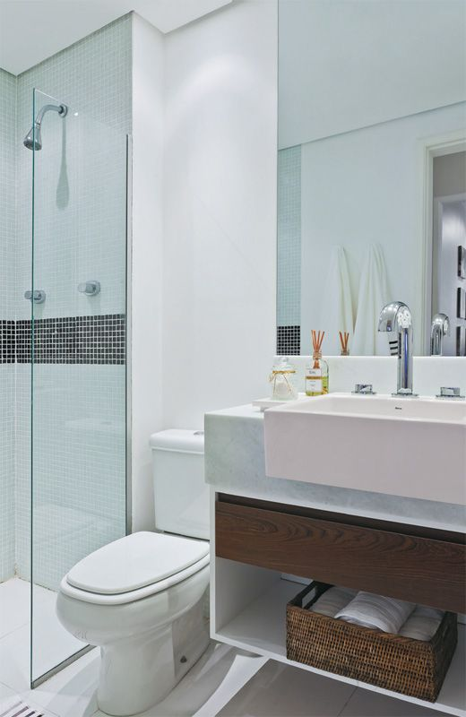 Aprenda tudo para montar seu banheiro pequeno -> Banheiro Pequeno Organizacao