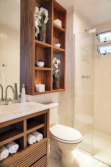 Aprenda tudo para montar seu banheiro peque -> Banheiro Pequeno Organizacao