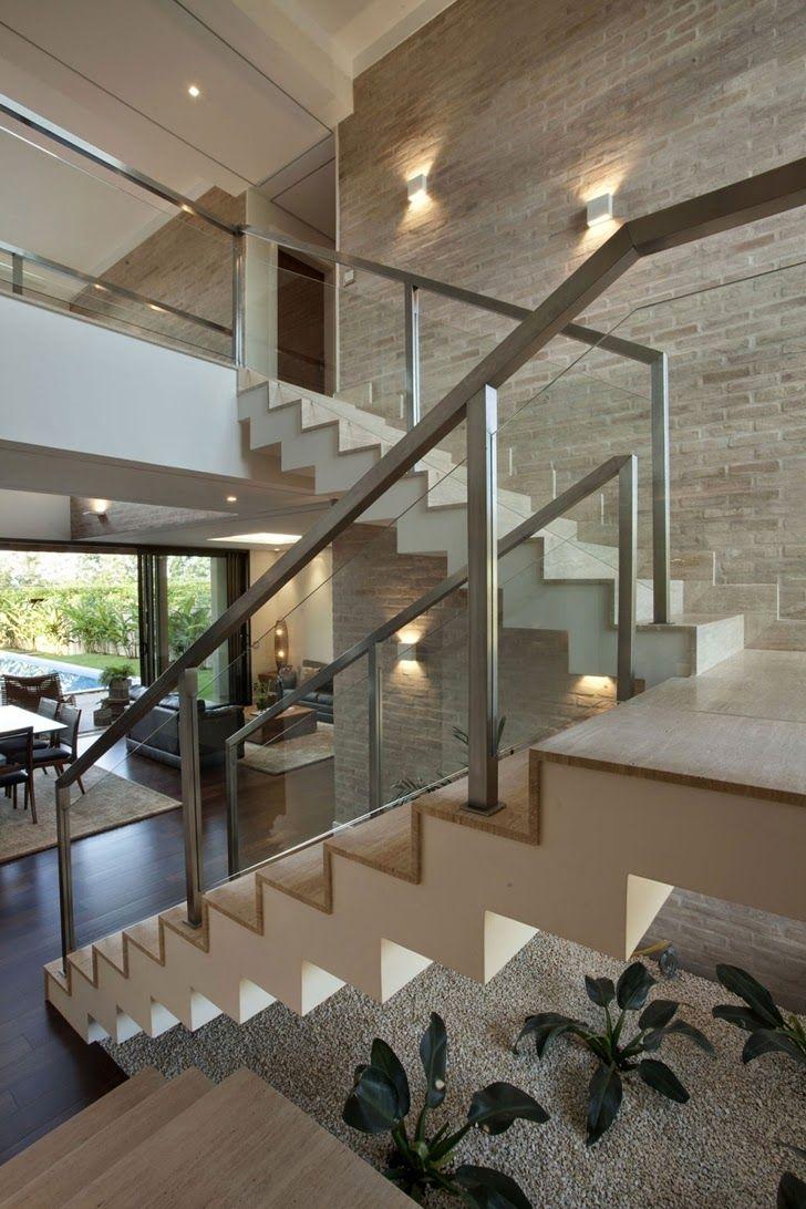 Decore Sua Sala Com Escada De Forma F Cil Com Essas Super Dicas ~ Mansões Por Dentro Cozinha
