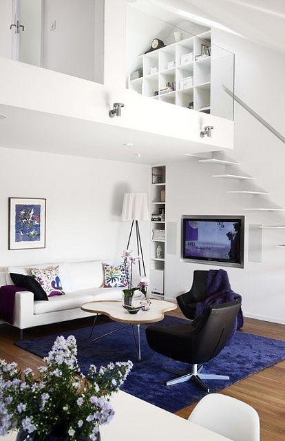 decoração sala com escada (9)