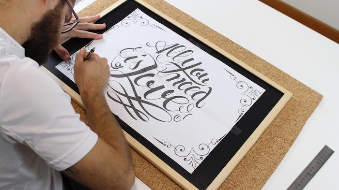 DIY tutorial lettering desenho lousa (19)