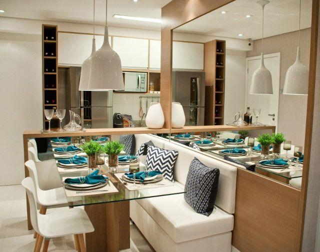 Sala De Jantar Branca Pequena ~ Dicas para decorar sua sala de jantar pequena