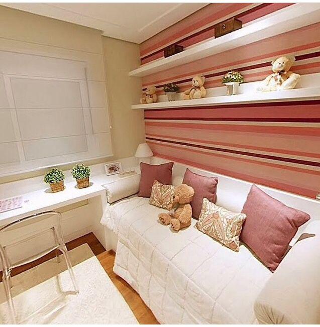 Como montar um quarto de solteiro pequeno para mulher ~ Quarto Verde Solteiro