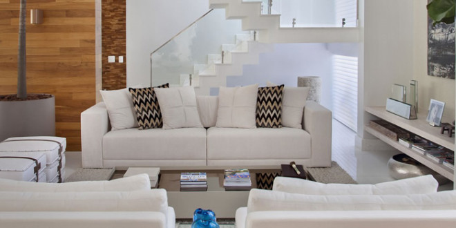 Decore sua sala com escada de forma f cil com essas super for Sala de estar grande com escada