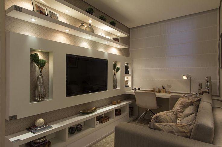 Sala Pequena Com Tv Grande ~ Tudo que você precisa saber para decorar a casa com prateleiras