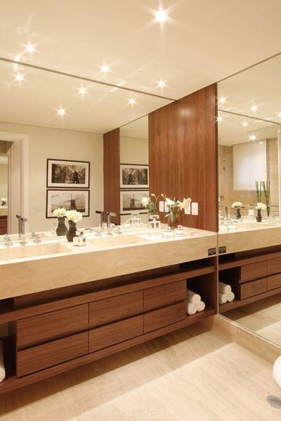 vantagens e desvantagens spots na iluminação decoração banheiro