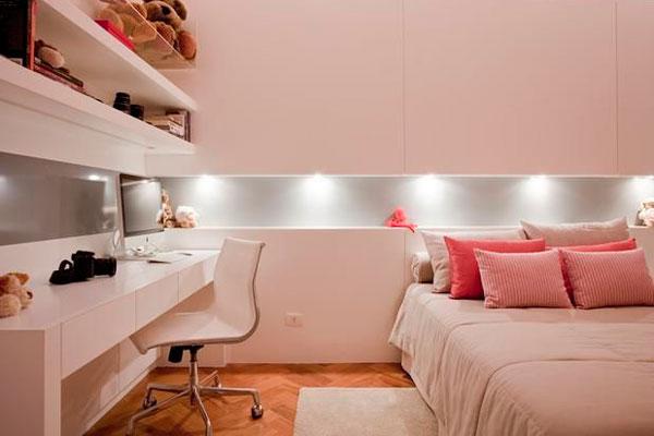 vantagens e desvantagens spots na iluminação decoração quarto