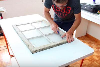 DIY Janela Mural Stencil Faça você mesmo tutorial (1)