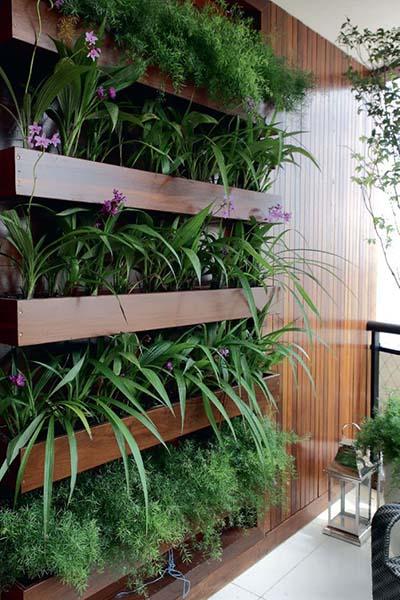 Conhe a as vantagens em ter um jardim vertical em casa for Imagenes de jardines verticales pequenos