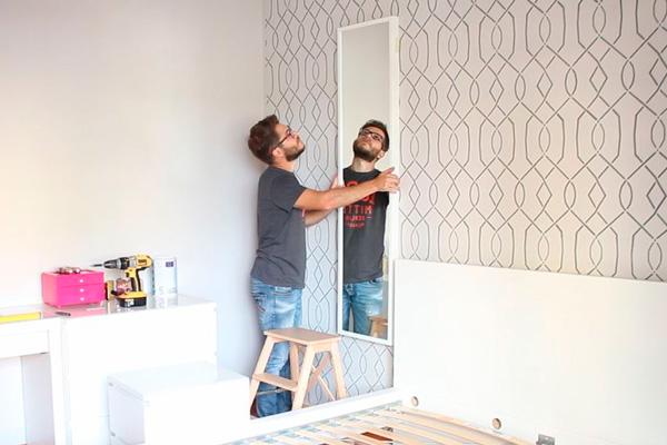 transformando o nosso quarto cabeceira