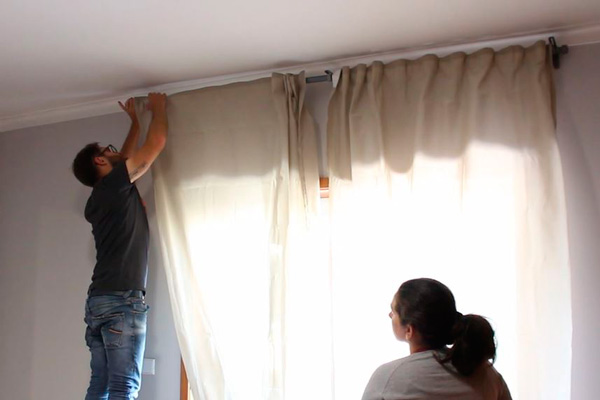 transformando o nosso quarto cortina
