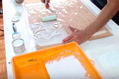 DIY Janela Mural Stencil Faça você mesmo tutorial (5)