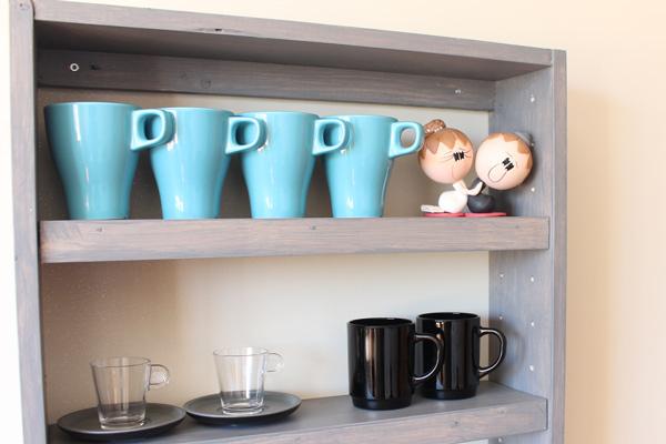 DIY nicho com prateleiras nicho de parede porta xícara organizador cozinha banheiro (6)