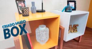 como fazer um criado mudo box estante modular mesa lateral CAPA