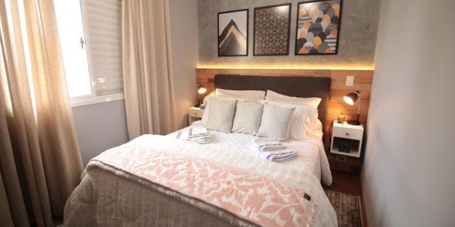 Transformação do quarto de casal pequeno