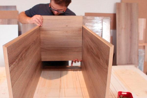 Como fazer móveis de cozinha e escritório