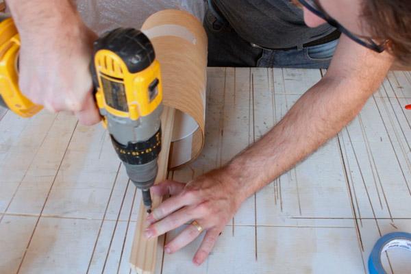 como fazer Luminária de madeira redonda dimerizável