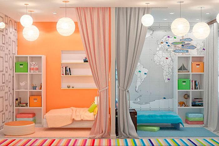 Como planejar um quarto para um casal de adolescentes - Habitacion para 2 ninos ...