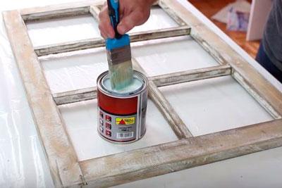 DIY Janela Mural Stencil Faça você mesmo tutorial (4)