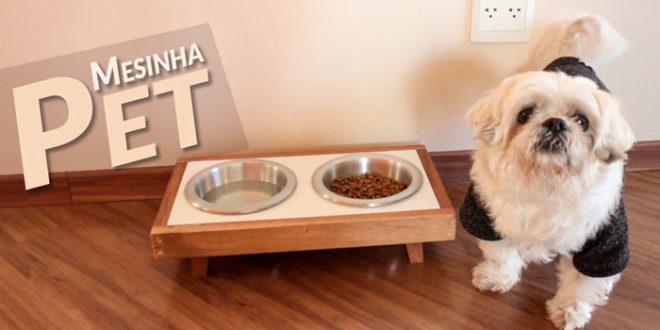 DIY mesa de cachorro comedouro pet (CAPA)