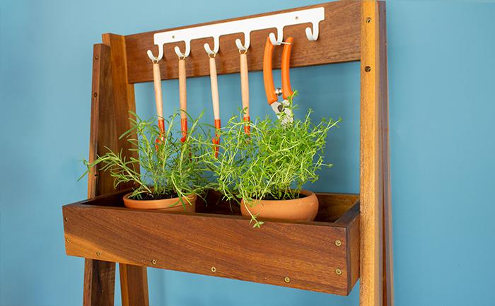 estante de plantas